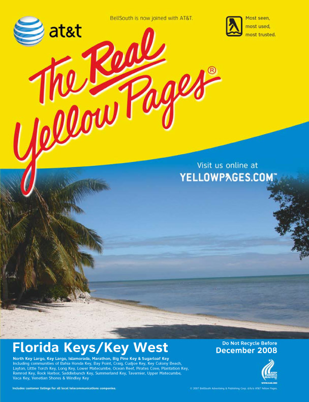 2008 Yellow Pages cover